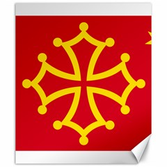 Flag Of Occitania Canvas 20  X 24   by abbeyz71