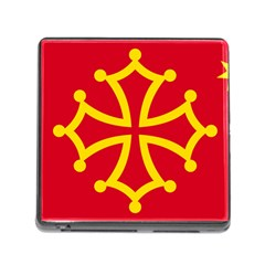 Flag Of Occitaniah Memory Card Reader (square) by abbeyz71