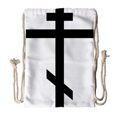 Orthodox Cross  Drawstring Bag (large) by abbeyz71