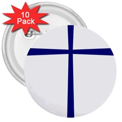 Byzantine Cross  3  Buttons (10 Pack)  by abbeyz71