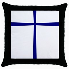 Byzantine Cross  Throw Pillow Case (black) by abbeyz71