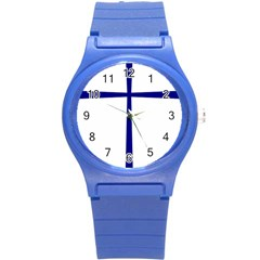 Byzantine Cross  Round Plastic Sport Watch (s) by abbeyz71