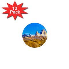 Snowy Andes Mountains, El Chalten, Argentina 1  Mini Magnet (10 Pack)  by dflcprints