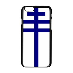 Papal Cross  Apple Iphone 6/6s Black Enamel Case by abbeyz71