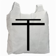 Papal Cross Recycle Bag (one Side) by abbeyz71