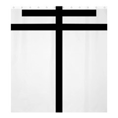 Papal Cross Shower Curtain 66  X 72  (large)  by abbeyz71