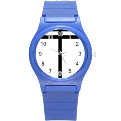 Papal Cross Round Plastic Sport Watch (s) by abbeyz71