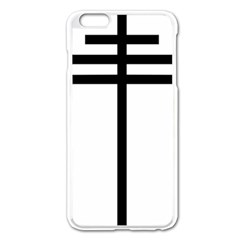 Papal Cross  Apple Iphone 6 Plus/6s Plus Enamel White Case by abbeyz71