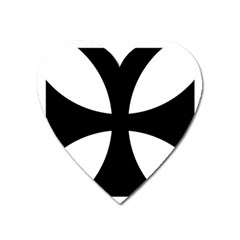Cross Patty  Heart Magnet by abbeyz71