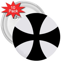 Cross Patty 3  Buttons (10 Pack)  by abbeyz71