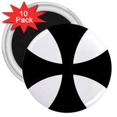 Cross Patty 3  Magnets (10 Pack)  by abbeyz71