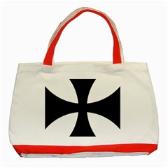 Cross Patty Classic Tote Bag (red) by abbeyz71
