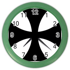 Cross Patty Color Wall Clocks by abbeyz71