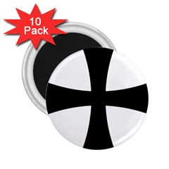 Cross Patty 2 25  Magnets (10 Pack)  by abbeyz71