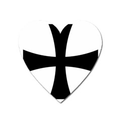 Cross Patty Heart Magnet