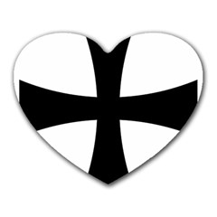 Cross Patty Heart Mousepads by abbeyz71