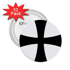 Cross Patty 2 25  Buttons (10 Pack)  by abbeyz71