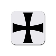 Cross Patty Rubber Coaster (square)  by abbeyz71