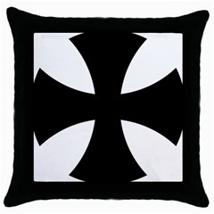 Cross Patty  Throw Pillow Case (black) by abbeyz71