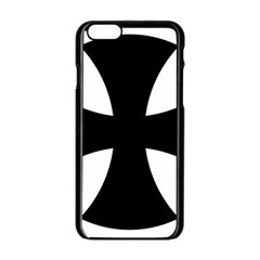 Cross Patty  Apple Iphone 6/6s Black Enamel Case by abbeyz71