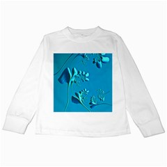 Amazing Floral Fractal A Kids Long Sleeve T-shirts by Fractalworld