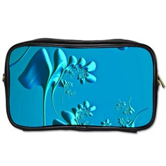 Amazing Floral Fractal A Toiletries Bags 2 Side by Fractalworld