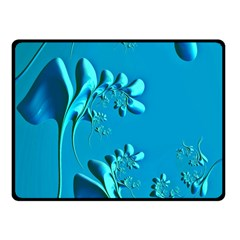 Amazing Floral Fractal A Fleece Blanket (small) by Fractalworld