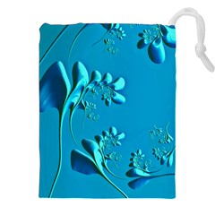 Amazing Floral Fractal A Drawstring Pouches (xxl) by Fractalworld