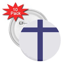 Patriarchal Cross 2 25  Buttons (10 Pack)  by abbeyz71