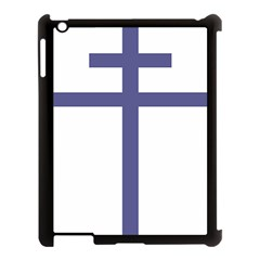 Patriarchal Cross Apple Ipad 3/4 Case (black) by abbeyz71