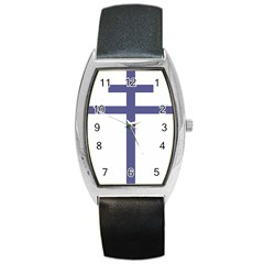 Patriarchal Cross Barrel Style Metal Watch by abbeyz71