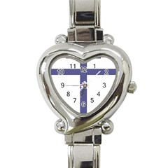 Patriarchal Cross Heart Italian Charm Watch by abbeyz71