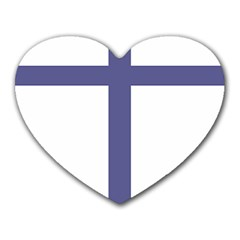 Patriarchal Cross Heart Mousepads by abbeyz71