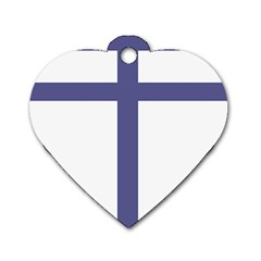 Patriarchal Cross Dog Tag Heart (two Sides) by abbeyz71