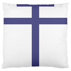 Patriarchal Cross  Large Cushion Case (one Side) by abbeyz71