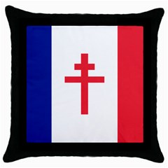 Flag Of Free France (1940 1944) Throw Pillow Case (black) by abbeyz71