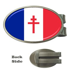 Flag Of Free France (1940 1944) Money Clips (oval)  by abbeyz71