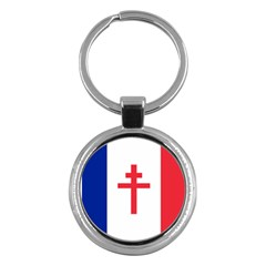 Flag Of Free France (1940 1944) Key Chains (round)