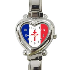 Flag Of Free France (1940 1944) Heart Italian Charm Watch by abbeyz71