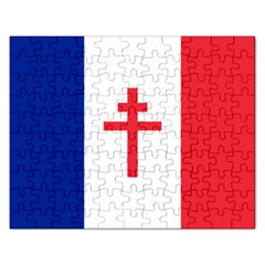 Flag Of Free France (1940 1944) Rectangular Jigsaw Puzzl by abbeyz71