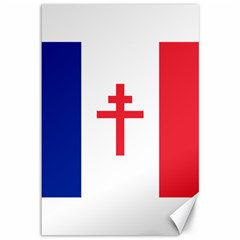 Flag Of Free France (1940 1944) Canvas 12  X 18