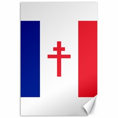 Flag Of Free France (1940-1944) Canvas 20  X 30   by abbeyz71