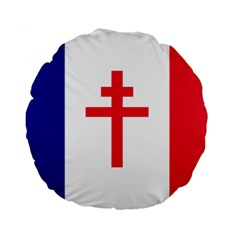 Flag Of Free France (1940 1944) Standard 15  Premium Round Cushions by abbeyz71