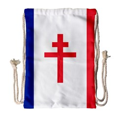 Flag Of Free France (1940 1944) Drawstring Bag (large) by abbeyz71
