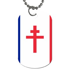 Flag Of Free France (1940 1944) Dog Tag (one Side) by abbeyz71