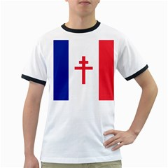 Flag Of Free France (1940 1944) Ringer T Shirts by abbeyz71