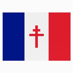 Flag Of Free France (1940 1944) Large Glasses Cloth (2 Side) by abbeyz71