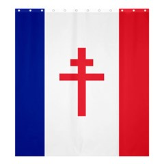 Flag Of Free France (1940 1944) Shower Curtain 66  X 72  (large)  by abbeyz71