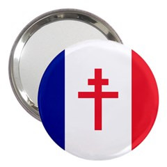 Flag Of Free France (1940 1944) 3  Handbag Mirrors by abbeyz71