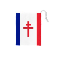 Flag Of Free France (1940 1944) Drawstring Pouches (small)  by abbeyz71